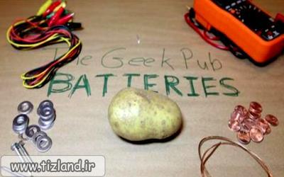 تولید برق با سیب زمینی