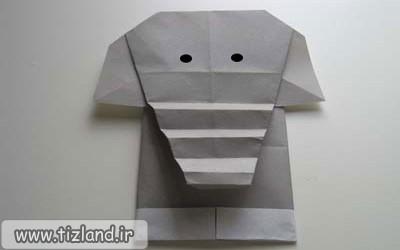 آموزش ساخت اریگامی فیل
