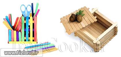 کاردستی با چوب زبان